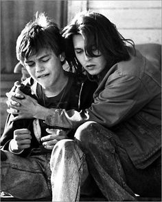 Johnny Depp and Leonardo DiCaprio in What's Eating Gilbert Grape?