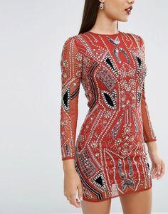ASOS | ASOS RED CARPET Ergonomic Velvet Sequin Mix Mini Dress
