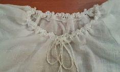 Adriana Hobby: Confecționarea unei bluze tip ie cu bordură croşet. Couture, Crochet Necklace, Ruffle Blouse, Embroidery, Stitch, Sewing, Women, Pop, Fashion