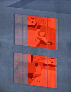 La Belle Illustration: Emiliano Ponzi, Loneliness in times of social networks, La Repubblica, aout 2014