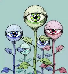 gif drawing Illustration art trippy Cool blue pink stoned roses eyeballs do drugs poison-ivy-on-drugs Art And Illustration, Art Inspo, Kunst Inspo, Graffiti, Trippy Drawings, Art Drawings, Drawing Art, Drawing Ideas, Psychedelic Art