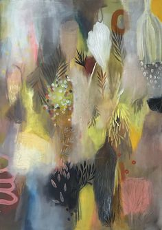 Tiel Seivl-Keevers creates abstract, ethereal images using bursts of colorful paint and small, organic mark making. They are inspired by nature.