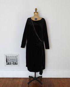 Vintage 1920s Dress  20s Velvet Dress  The by BohemianBisoux