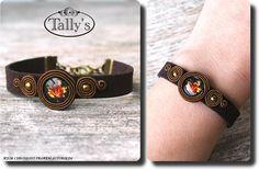 Tally Soutache Bracelet, Soutache Jewelry, Shibori, Leather Cord Bracelets, Diy And Crafts, Embroidery, Beads, Handmade, Jewellery