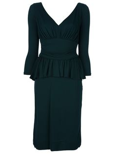 Alexander McQueen Peplum Dress