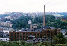 Blick auf das Greika-Gebäude in der Greizer August-Bebel-Straße. | Greiz zu DDR – Zeiten in den 1980er Jahren