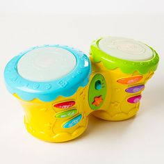 Beat Bop Baby Bongo and thousands more of the very best toys at Fat Brain Toys. Give your little explorer a head start on the fun of creative rhythm-making! Three buttons on the left let you choose between bongo and animal sounds while the buttons on the right let you play along with fun backing rhythms. Music-making comes easy!