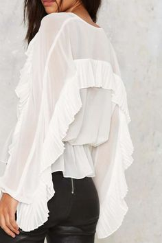 Nasty Gal In the Wings Sheer Top - Clothes   Best Sellers   Blouses