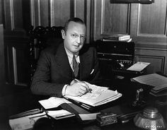 Jesse Lasky (1880 – 1958) was an American pioneer film producer & a key founder of Paramount Pictures w/Adolph Zukor. In 1927, he was one of the 36 founders of A.M.P.A.S.  He died at age 77, and is buried at Hollywood Forever Cemetery, adjacent to Paramount Studios in Hollywood.