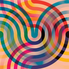 Andy Gilmore performs through the synchronization of form and colour, in order to create geometric works of art. Psychedelic Pattern, Psychedelic Art, Eye Illustration, Arte Pop, Retro Art, Durga, Geometric Art, Op Art, Print Patterns