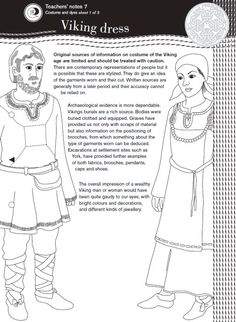 The Vikings - Information on clothes, runes and alphabet. Plus, Viking writing template, Viking warrior colouring activity and material activity for costumes.