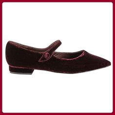 Exclusif Paris  Exclusif Paris Abby, Chaussures femme Chaussures plates,  Damen Ballerinas , Rot - Rot - Bordeaux - Größe: 37.5 - Ballerinas für frauen (*Partner-Link)