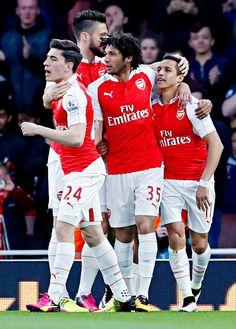 Bellerin, Giroud, Elneny, and Alexis Sanchez.