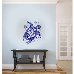 Sea Turtle Vinyl Wall Decal | Overstock.com Shopping - The Best Prices on Vinyl Wall Art