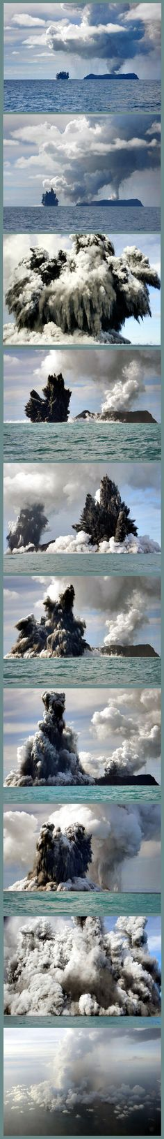 Surtseyan eruption in the South Pacific