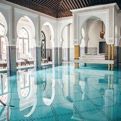 The spa pool at La Mamounia Marrakech (Instagram by @countessian)