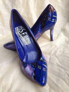 Geek Fashion: High Heels | GeekNation wish they were higher heels! But love the Doctor!!