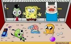 Invader Zim, Spongbob, and Adventure Time <3