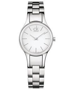 Calvin Klein Watch, Women's Swiss Simplicity Stainless Steel Bracelet 28mm K4323126
