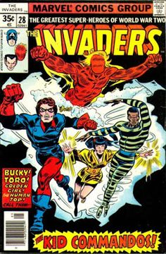 The Invaders is the name of two fictional superhero teams in the Marvel Comics U. Marvel Comics Superheroes, Marvel Comic Books, Comic Book Heroes, Marvel Characters, Comic Books Art, Marvel Art, Cartoon Characters, Marvel Comic Universe, Comics Universe