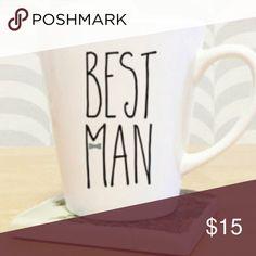 🥂Best Man Custom Mug 14 OZ handpainted mug by me The Laughing Llama Co Accessories