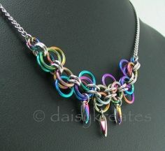 #chainmaille Lorenz's Forget-Me-Not necklace - Gallery - Maillers Worldwide