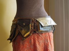 leather pocket belt