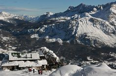 Rifugio Pomedes, from its terrasse you have one of the widest landscape on Dolomites of Veneto Region.