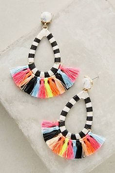 Cute! Want to make something similar with polymer  Summer Tassel Drop Earrings