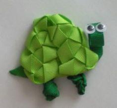 Turtle Hair Ribbon Sculpture Clip Tutorial