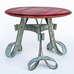 Cool #table made from a wine barrel.  #barrel #wine