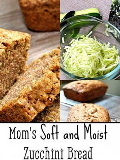 Mom's Soft and Moist Zucchini Bread Recipe | Delishably