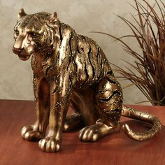 Hunter Tiger Sculpture