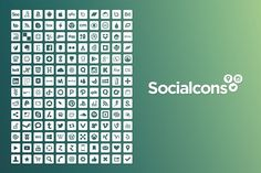 Vector Social Media Icons by Gedy Leon on @creativemarket