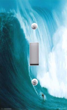Light Switch Plate Outlet Covers BEACH DECOR ~ OCEAN WAVE RIDER #CUSTOMMADEUSINGDECOUPAGETECHNIQUE