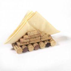 servilletero decorado con corchos servilletero madera,corcho recortar,reciclaje