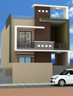 Front Elevation Designs, House Elevation, Tv Wall Decor, Duplex House Design, Mansions, House Styles, Places, Home Decor, Facades