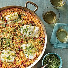 Skillet Orzo with Fish and Herbs Recipe | MyRecipes.com Mobile