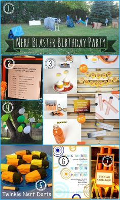 creative geekery: pinspired: a nerf birthday party