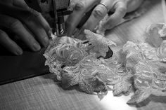 The creation of the La Perla Maison collection, hand finished with a double frastaglio technique.