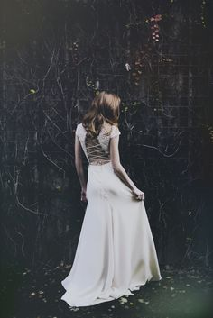 anais anette: lace-up back | available at aandbe bridal shop in dallas, denver, and minneapolis. #aandbestylebook