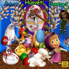 Just Magic, Cute Bunny, Happy Easter, Christmas Ornaments, Holiday Decor, Amor, Easter, Meal, Good Evening Greetings