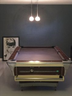 S S Fischer Pool Table Refelted In Charcoal Gray - Pool table movers aurora il