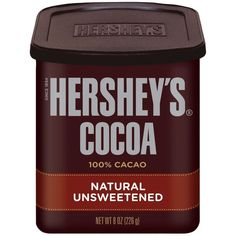 Amazon.com : Hershey's Natural Unsweetened Cocoa, 8-Ounce Cans (Pack... ❤ liked on Polyvore featuring food