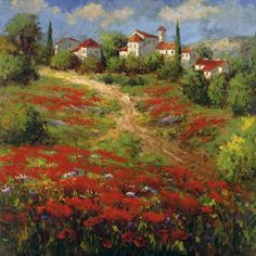 Country Village II by Hulsey, Tuscan Landscape On Stretched Canvas Museum Wrap   eBay