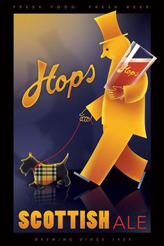 vintage scottish beer poster - Google Search