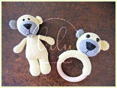 little bear and teething rattle