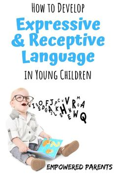 How children develop their receptive and expressive language and what parents can do to help develop these language skills with fun games and activities. Communication Development, Communication Activities, Education And Development, Language Development, Child Development, Early Education, Preschool Learning, Toddler Preschool, Early Learning