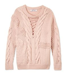 ShopBazaar Prabal Gurung Textured Cable Knit Sweater MAIN