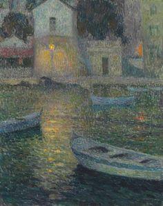 thunderstruck9: Henri Le Sidaner (French, 1862-1939), La maison des pêcheurs [The Fishermen's House], Villefranche-sur-Mer, 1924-25. Oil on canvas, 82 x 65.7 cm.